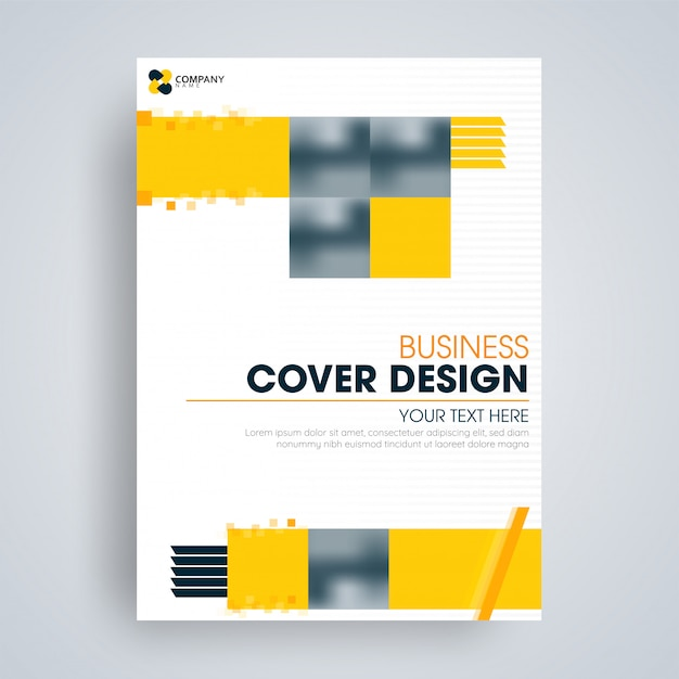 Design de folheto ou capa para negócios Vetor Premium