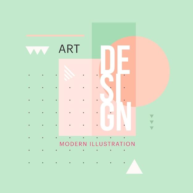 Design de forma geométrica minimalista na moda Vetor Premium