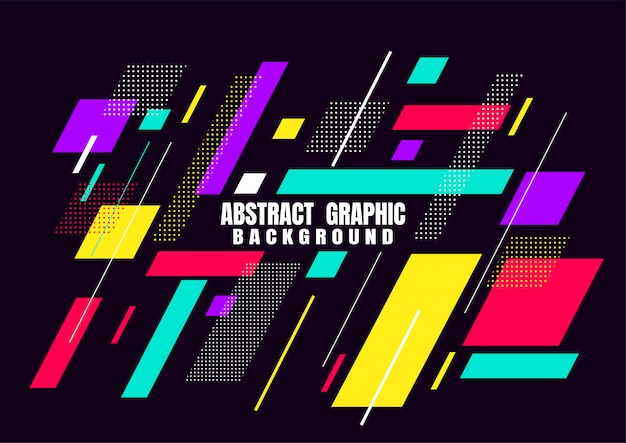 Design de formas geométricas abstratas para capa Vetor Premium