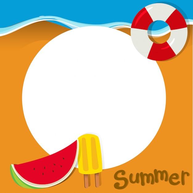 Design de fronteira com tema de verão Vetor grátis