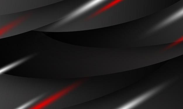 Design de fundo abstrato banner preto com espaço de cópia Vetor Premium