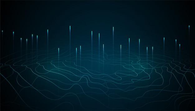 Design de fundo abstrato tecnologia digital de grande volume de dados Vetor grátis
