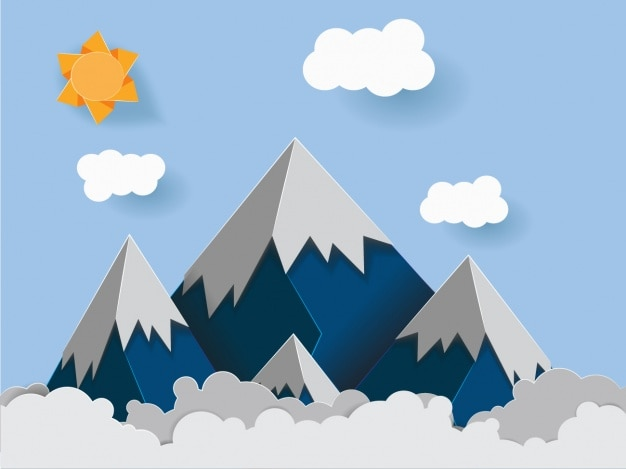 Design de fundo das montanhas Vetor grátis
