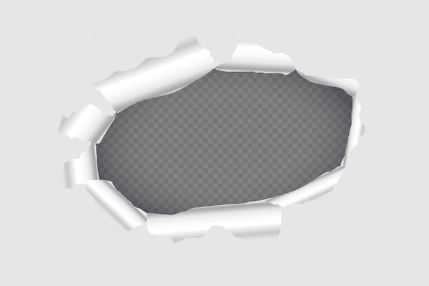 Design de fundo de folha de papel rasgado página buraco Vetor grátis