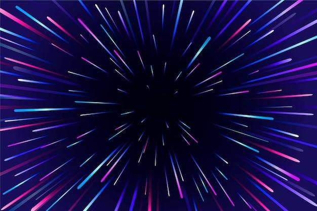 Design de fundo de luzes de velocidade Vetor grátis