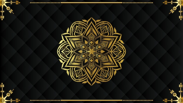 Design de fundo de mandala de luxo Vetor Premium