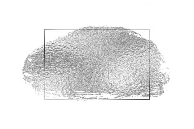 Design de fundo de moldura vazia de textura de folha de prata Vetor grátis