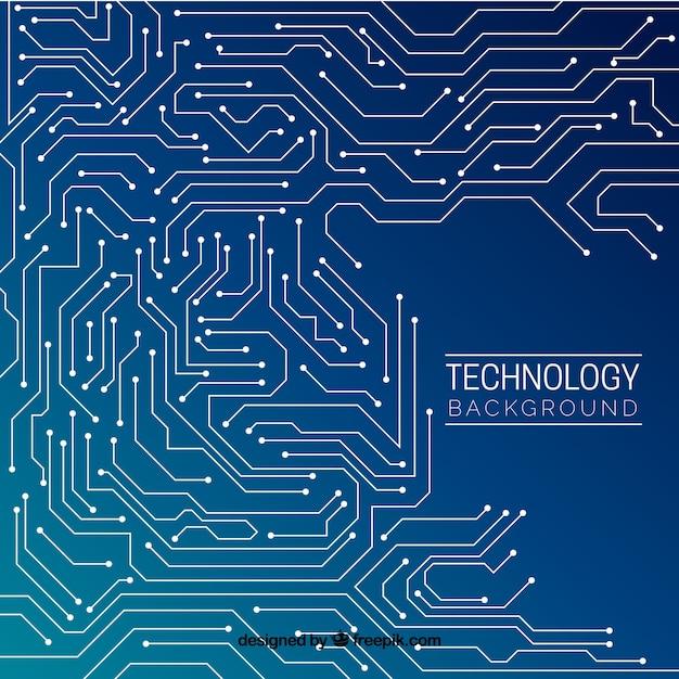 Design de fundo de tecnologia Vetor grátis