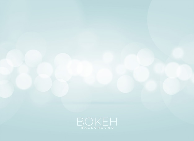Design de fundo desfocado suave bokeh Vetor grátis