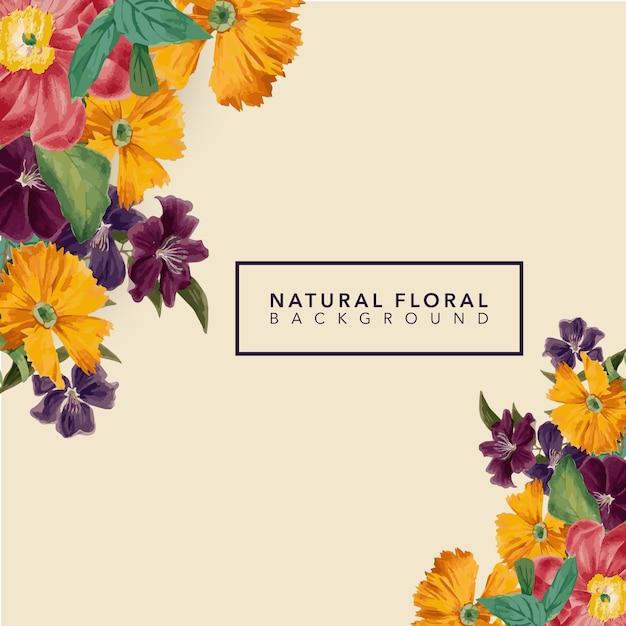 Design de fundo floral Vetor Premium