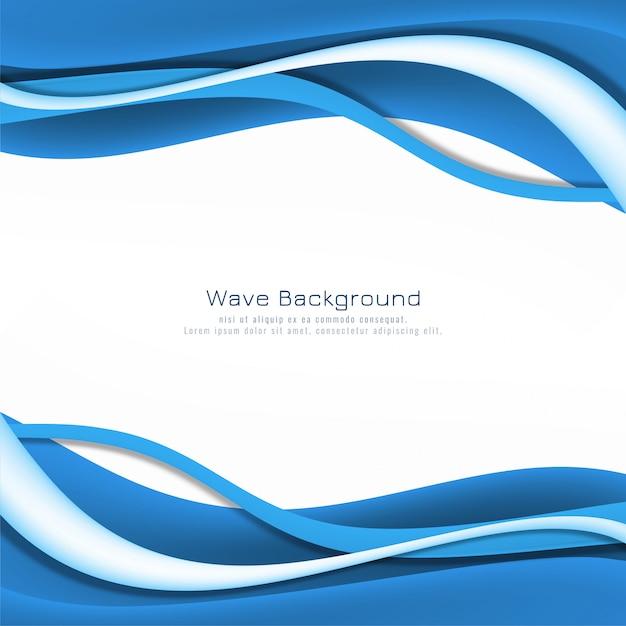 Design de fundo moderno elegante onda azul Vetor grátis
