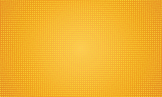 Design de fundo pontilhado abstrato amarelo Vetor Premium