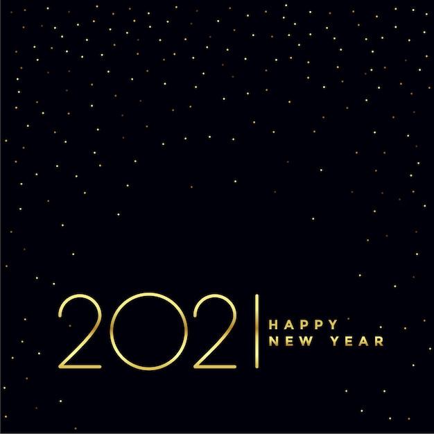 Design de fundo preto e dourado de feliz ano novo 2021 Vetor grátis