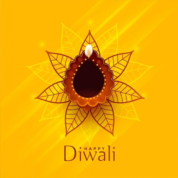 Design de fundo tradicional criativo feliz diwali Vetor grátis