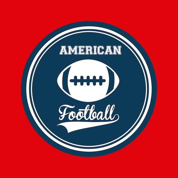 Design de futebol americano Vetor Premium