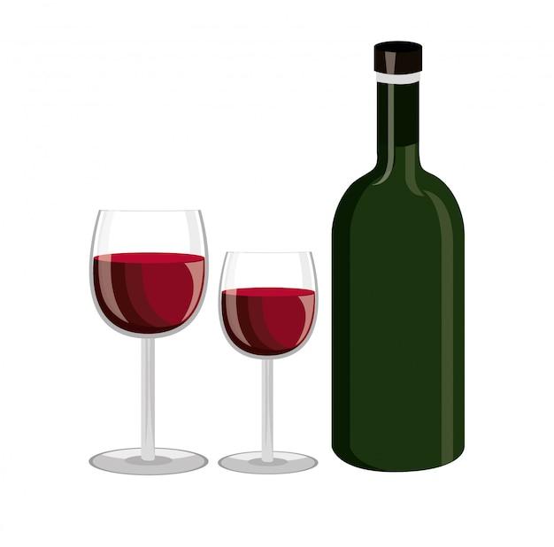 Design de garrafa de vinho. Vetor grátis