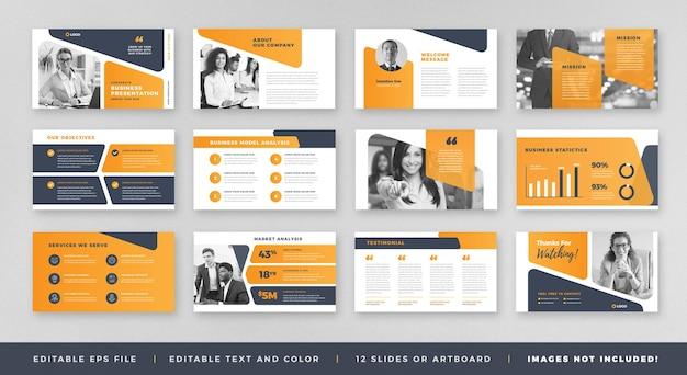 Design de guia de folheto de apresentação comercial ou modelo de slide ou controle deslizante de guia de vendas Vetor Premium