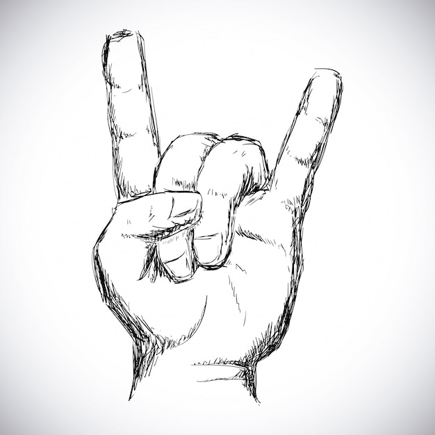 Design de hard rock Vetor Premium