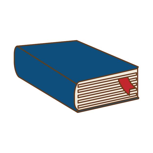 Design de ícone de livro grosso azul Vetor Premium