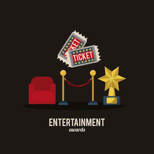 Design de ícones de entretenimento Vetor Premium