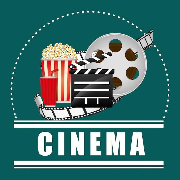 Design de ícones do cinema Vetor Premium