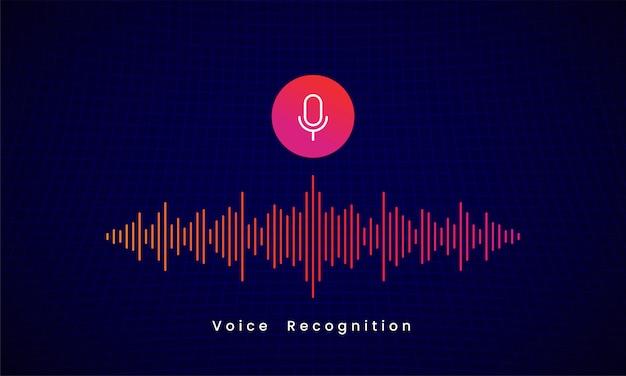 Design de ilustração de assistente pessoal de reconhecimento de voz ai Vetor Premium