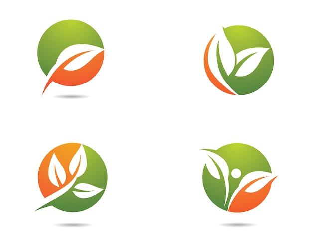 Design de ilustração de logotipo de ecologia Vetor Premium