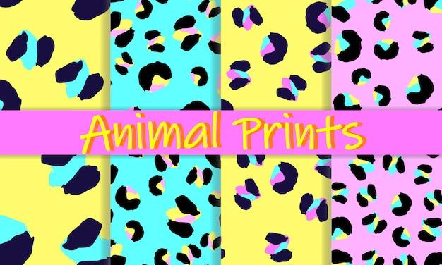 Design de impressão de leopardo. pele de animal. padrão sem emenda. Vetor Premium