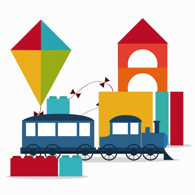 Design de infância e brinquedos Vetor Premium