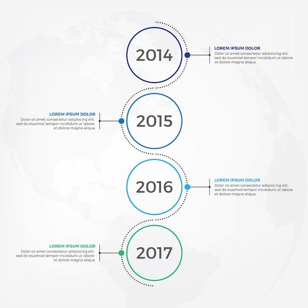 Design de infográfico de cronograma vertical Vetor Premium
