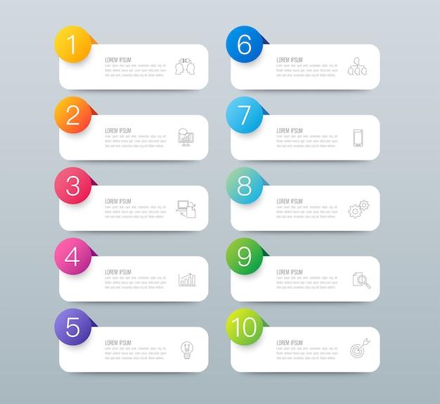 Design de infográficos com etapas ou opções. Vetor Premium