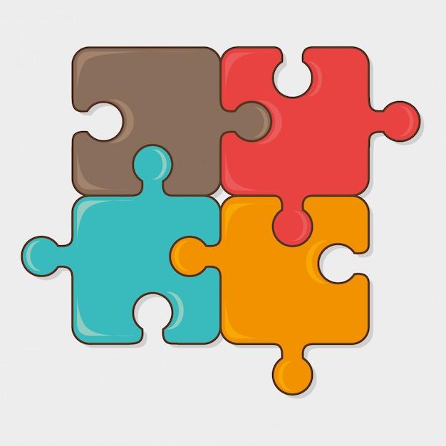 Design de jogos de quebra-cabeça. Vetor Premium