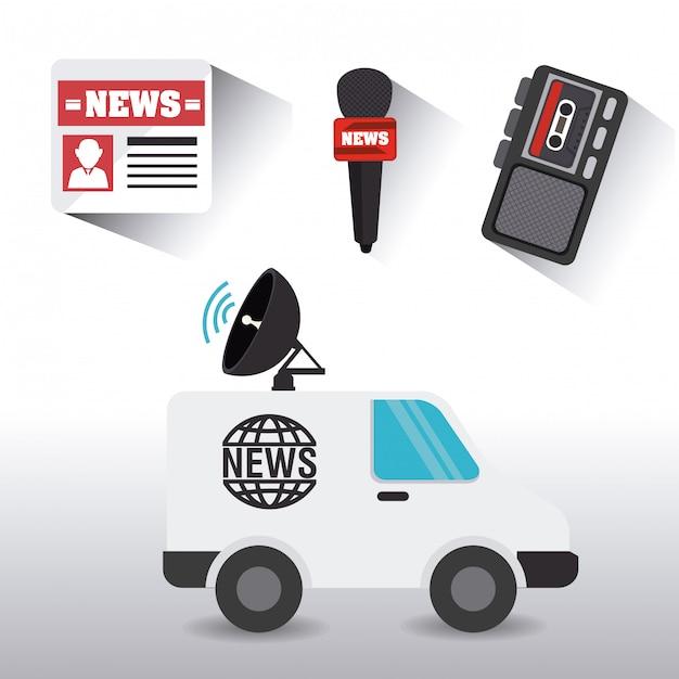 Design de jornalismo. Vetor Premium