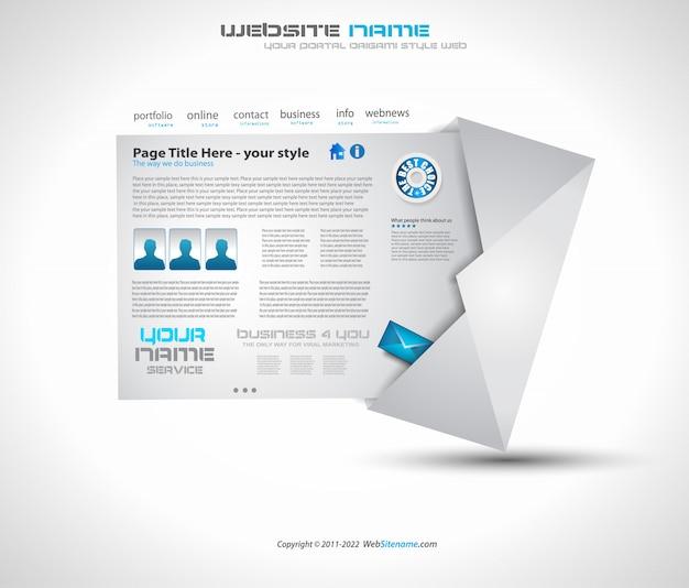 Design de layout de site para negócios Vetor Premium