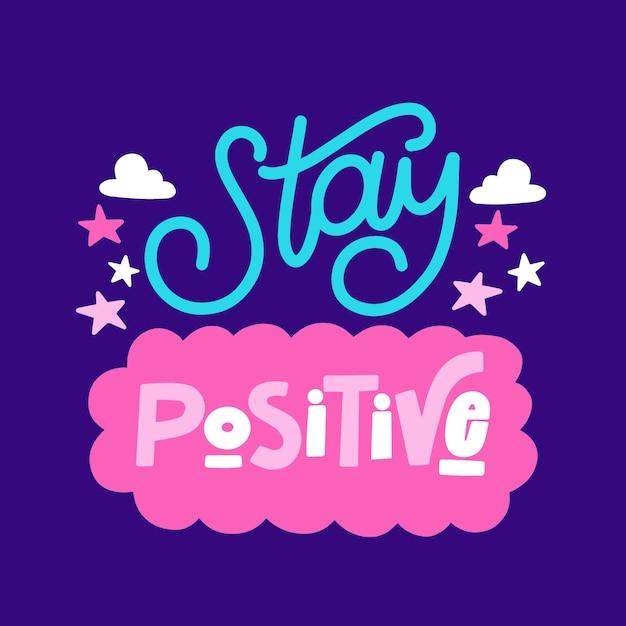 Design de letras de mente positiva Vetor grátis
