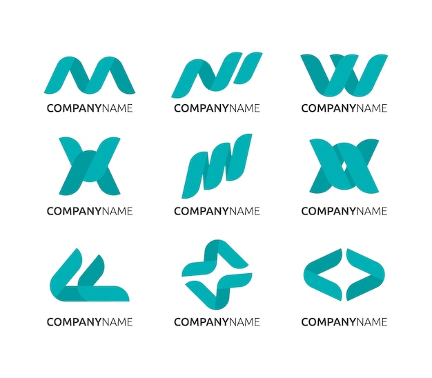 Design de logotipo abstrato, logotipo de negócios limpo Vetor Premium