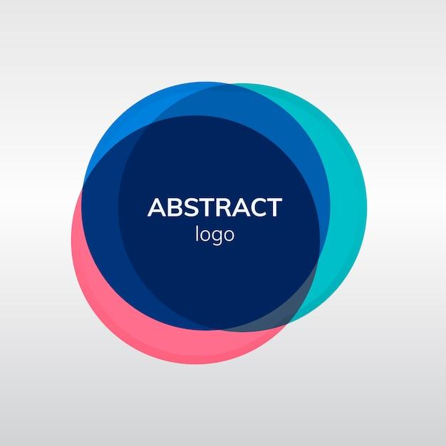 Design de logotipo colorido distintivo abstrato Vetor grátis