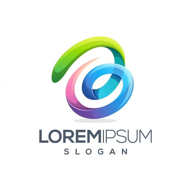 Design de logotipo colorido letra b Vetor Premium