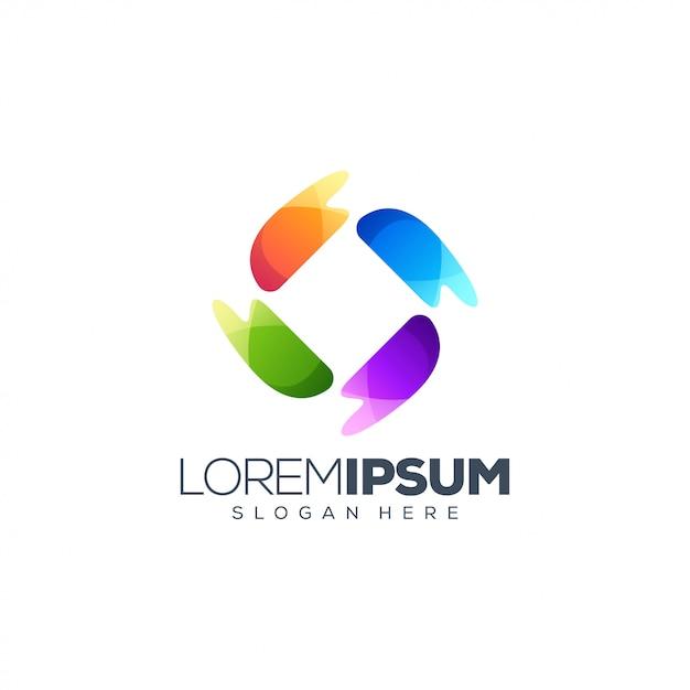 Design de logotipo colorido Vetor Premium