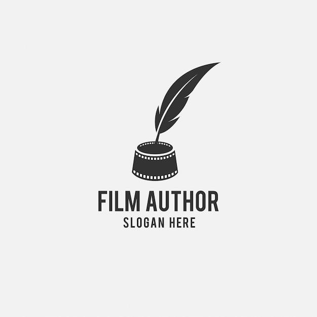 Design de logotipo criativo para filme Vetor Premium