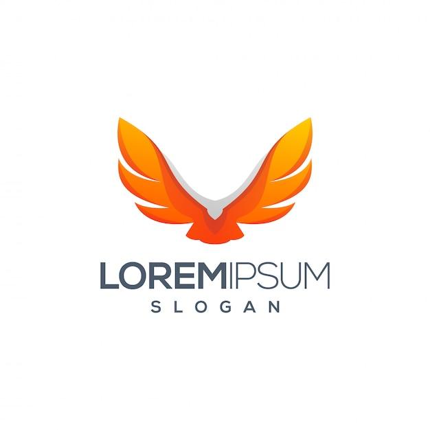 Design de logotipo da águia Vetor Premium