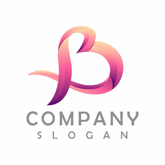 Design de logotipo da letra b Vetor Premium