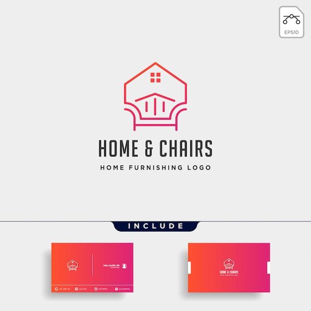 Design de logotipo da mobília Vetor Premium