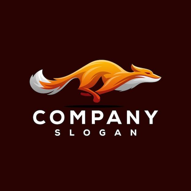 Design de logotipo da raposa Vetor Premium