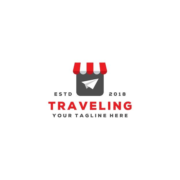 Design de logotipo de agente de viagens criativo Vetor Premium