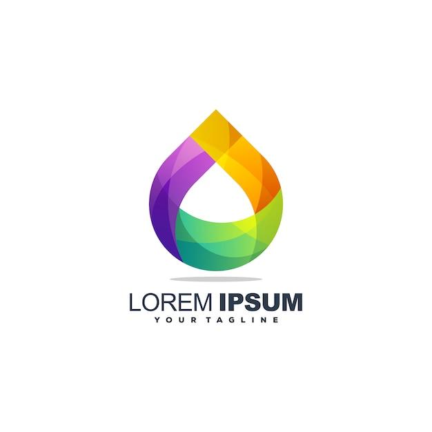 Design de logotipo de água gota incrível Vetor Premium
