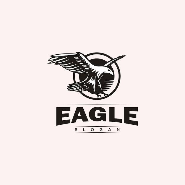 Design de logotipo de águia majestosa Vetor Premium