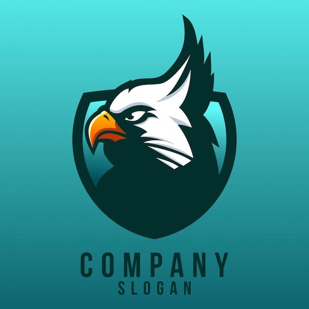 Design de logotipo de águia Vetor Premium
