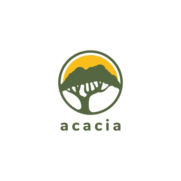 Design de logotipo de árvore Vetor Premium