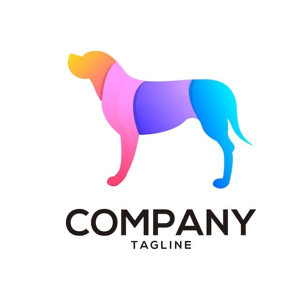 Design de logotipo de cachorro Vetor Premium